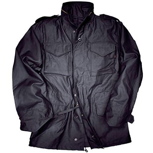 Alpha Industries M-65 Field Jacket original Army Nyco Satin, Größe:M, Farbe:Black