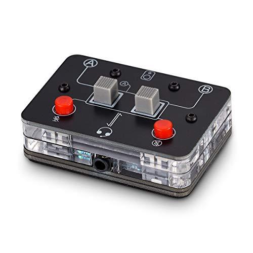 Mini commutateur audio a 2 voies pour microphone 35 mm A B