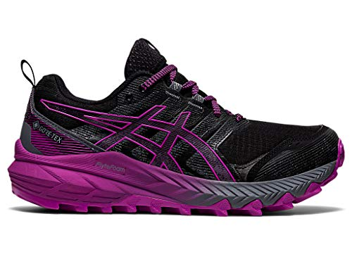 ASICS Women's Gel-Trabuco 9 Trail Running Shoes, 6.5M, Black/Digital Grape