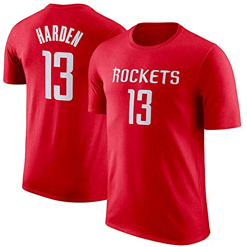 T-Shirt NBA Houston Rockets James Harden Maglietta da Basket da Uomo a Manica Corta da Uomo, M