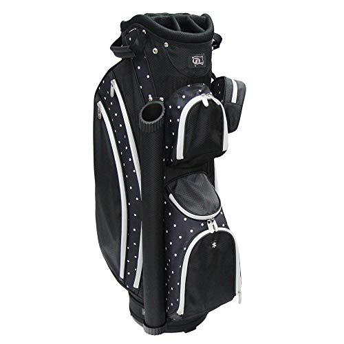 "RJ Sports Paradise 9"" Deluxe Ladies Cart Bag, Polk A Dot, 9"