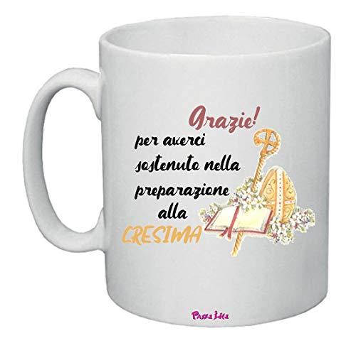 Tazza 8 x 10 Scritta Grazie catechista catechismo cresima Bambini Idea Regalo