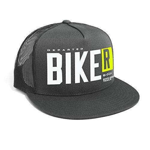 DEPARTED Herren Mesh Trucker Hat mit Print/Aufdruck - Snapback Cap - No. 54, dunkelgrau