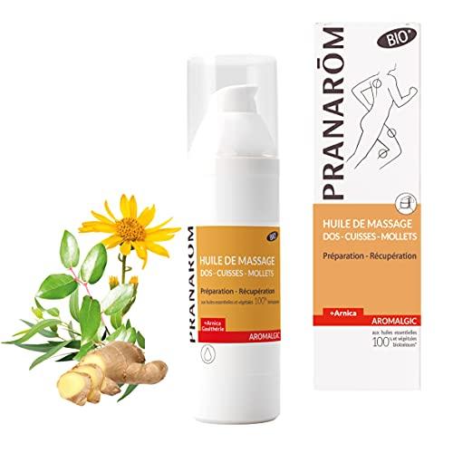 Pranarôm |Aromalgic|Huile de Massage Bio (Eco)|Dos|Cuisses|Mollets|Préparation|Récupération|100 ml