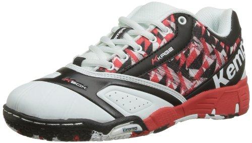 Kempa Cyclone Jr. Explosion Sneaker Unisex Erwachsene, Weiß - Weiß/Schwarz/Rot - Größe: 37 EU
