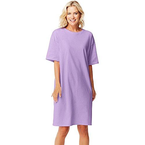 Hanes Women's Wear Around Slim Collar Lavender
