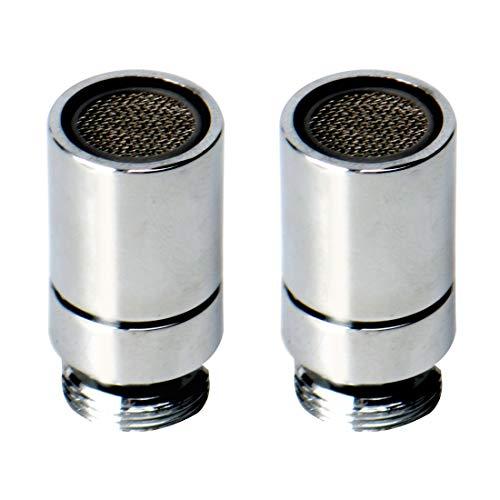 uxcell 2 piezas 360 Rotación Giratoria 16 mm Grifo Aireadores Universal Grifo Aireador Boquilla Repuesto Filtro de Agua Adaptador para Grifo de Baño Grifo Bidé