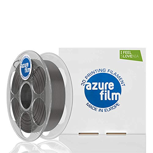 AZUREFILM PETG 3D Professional Printer Filament 1.75 mm - Must Have Printing Accessories for Bringing Your Ideas to Life - High Dimensional Accuracy +/-0.02mm, 1kg Spool, Grey - No Bubbles
