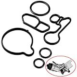 Oil Cooler Thermostat Housing Seals Gasket Kit Compatible with Chevrolet Cruze Limited Sonic Trax 1.4L Turbocharged Oil Filter Housing