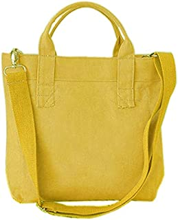 TOOGOO New Shopping Bag Canvas Ladies Shoulder Bag Green Shopping Bag Ladies Casual Handbag White