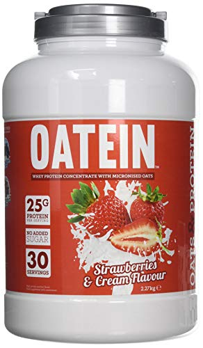 Oatein Oats & Protein (2.27kg) - Delicious Vegetarian Low Sugar Oats And Protein Powder - Strawberries & Cream