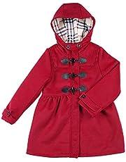 【在庫処分】[inotenka]ダッフルコート 女の子 子供 ウール フード付き チェック柄 トレンチコート 羊毛 お出かけ 入学式 卒業式 通園 通学 ジャケット 可愛い