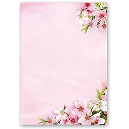 Papier /à motif /à lettres FLEURS ROSE 20 feuille de papier DIN A4 90g//m/²