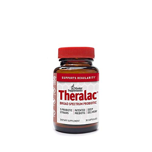 Master Supplements Theralac - 30 Vegan Capsules - Multi Strain Probiotic for Optimal Gut Health, Immune Booster, Gas and Bloating Relief - Gluten Free - 30 Servings