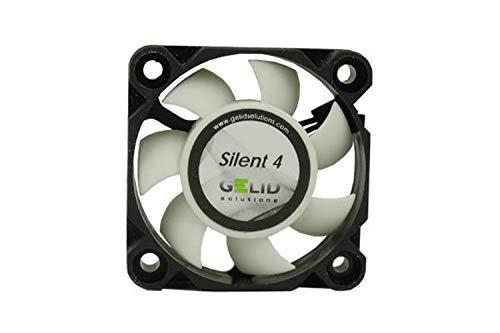 GELID SOLUTIONS Silent 4 de 3 Pines | Ventilador de 40mm para Cajas de PC estándar | Operación silenciosa | Aspas del Ventilador optimizadas.