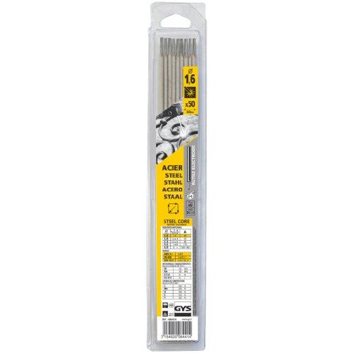 Abratools - Juego electrodo gys diámetro 1,6mm acero (blister 50u)