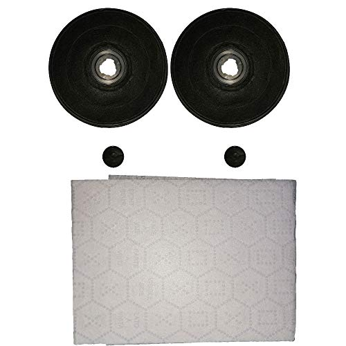 Marel Shop - kit 2 filtri a carbone + filtro in panno per cappe compatibile con FABER