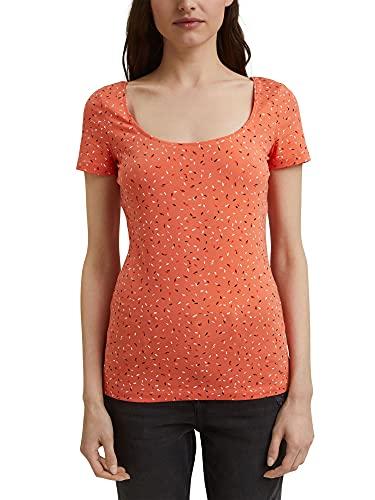 ESPRIT Basic-Shirt mit Print, Organic Cotton