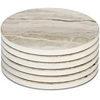 6-Pieces Lifver Drink Coasters Ceramic