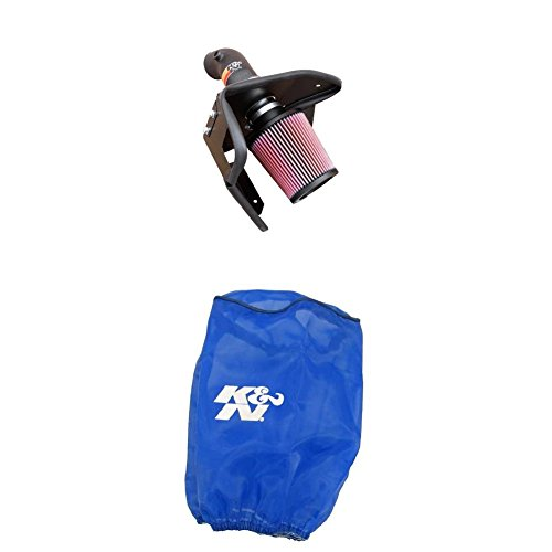 K&N 57-1002 Performance Air Intake System with Blue Air Filter Wrap