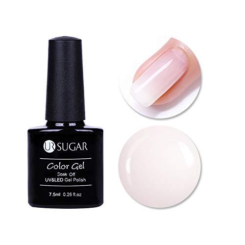 UR SUGAR 7,5ml UV Gel Nagellack Weiß Opal Gelee Soak Off Milchweiß Farben Halbtransparent Gel Nail...