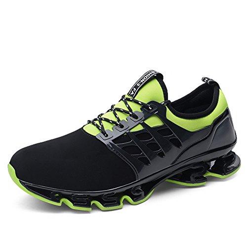 Uomo Sport Scarpe da Corsa Maglia Athletic Walking Fitness Trail Traspirante Runners Fashion Springblade Sneakers Runners Scarpe Grandi Dimensioni