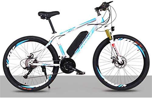Bici electrica, Bicicleta eléctrica for Adultos 26 En bicicleta eléctrica con motor de 250W 36V de la batería 21 8Ah velocidad doble freno de disco E-bici con Multi-Función Smart Meter Velocidad máxim