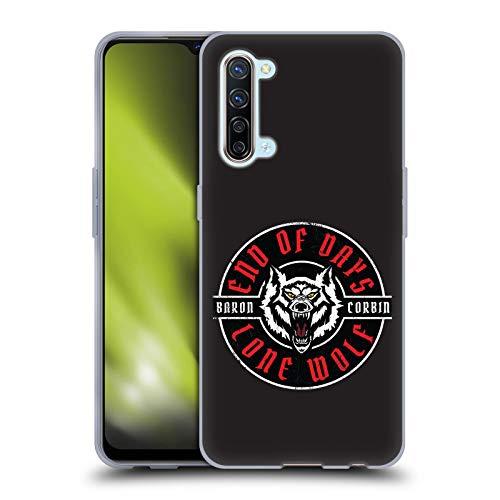 Head Case Designs Licenciado Oficialmente WWE Lobo Solitario 1 Barón Corbin Carcasa de Gel de Silicona Compatible con OPPO Find X2 Lite 5G