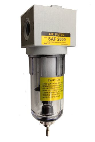 PneumaticPlus SAF2000M-N02B Miniature Compressed Air Particulate Filter 1/4