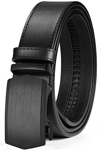 ITIEZY Cintura Uomo, Cintura da Uomo in Pelle con Fibbia Automatica Cintura a Cricchetto Cinta Uomo in Confezione Regalo
