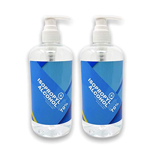 Serene Clean & Pure   70% Isopropyl Alcohol (16 Oz (Pack of 2))   Organic No Scent Rubbing Alcohol IPA Bottle   Made in USA