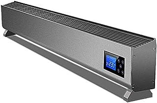 H.yina Calentador eléctrico Mudo de la Placa de calefacción del Piso del hogar, radiador de Plata de frecuencia Variable de Control Remoto WiFi, Material de aleación de Aluminio