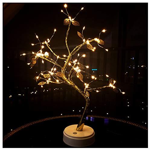Bonsai Boom Licht, Leds Verlichte Blad Boom Kunstmatige Bonsai Boom Lichten, USB Batterij Aangedreven Touch Schakelaar Warme Fairy Lights Boom Lamp voor Vakantie Feest Huisdecoratie