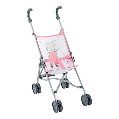 Corolle 9000140720 Mon Grand Poupon Puppenbuggy pink für alle 36-42cm Babypuppen