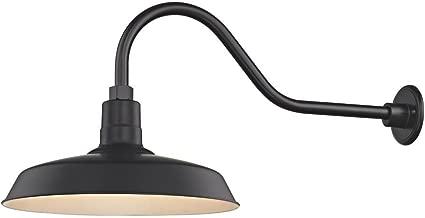 Black Gooseneck Barn Light with 16