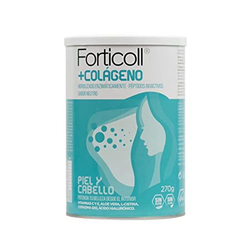 Forticoll Colágeno Bioactivo, Complemento Alimenticio, Sin Gluten, Sin Lactosa, Piel y Cabello Regenerador de Tejidos, 270 Gramos