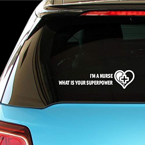PressFans - I'm A Nurse What is Your Superpower Paramedics Health Car Laptop Wall Sticker