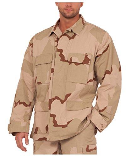 Rothco Mens BDU 3 Color Desert Shirt (Medium)
