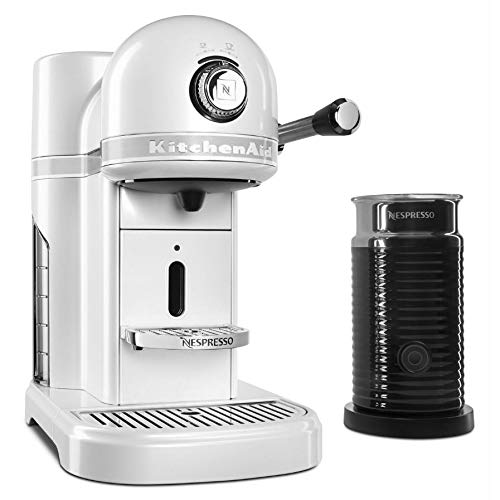 KitchenAid Candy Apple Red Aeroccino Milk Frother Nespresso Espresso Maker, 1.3 L