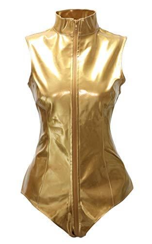 Bslingerie® - Vestido sexy para mujer (PVC, una pieza) Halfter vestido L