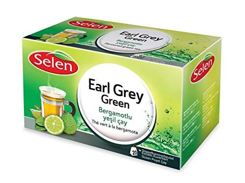 Selen Earl Grey Green Grüner Tee Aromatisiert 20 Teebeutel