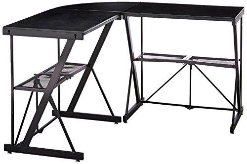 Origami RDE-01C Corner Computer Desk, Large, Black