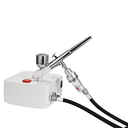 Docooler Professionele airbrush-luchtcompressor, zwaartekracht-feed dual action-airbrush-luchtcompressor-kit voor kunst schilderen, manicure, handwerk, taartspray, model Air Brush nagelgereedschapset 100-250 V