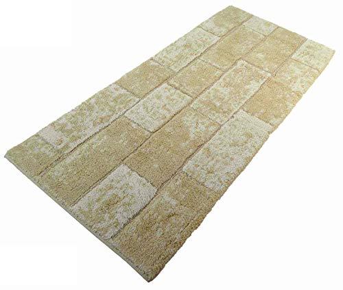 CASA TESSILE Tapis de Bain antidérapant Brick - Beige, 60x100 cm.