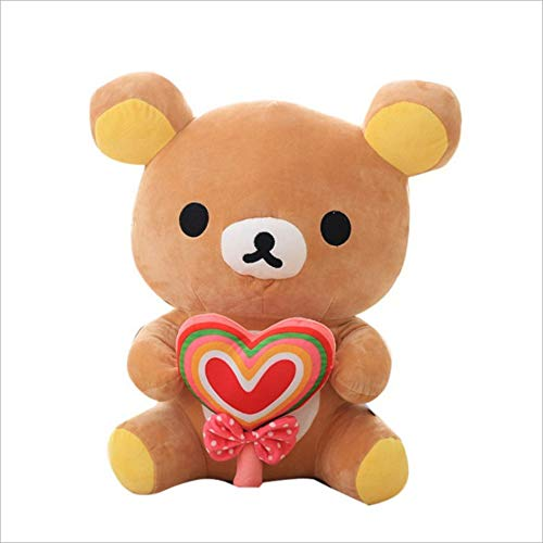 Zachte Rilakkuma Bear Gevulde Dollss Pluche Toyss, Cartoon Dier Teddybeer Kussen Baby Slapen Sussen Poppen, Kinderen Cadeau 35Cm