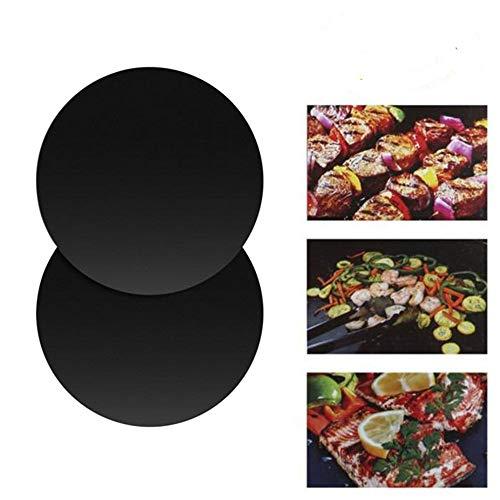Hahuha Grill Grill Mat, 2 Stück BBQ Grillmatte/Blech Wiederverwendbares beständiges Antihaft-Barbecue Backen Backen Fleisch, Küche , Esszimmer & Bar
