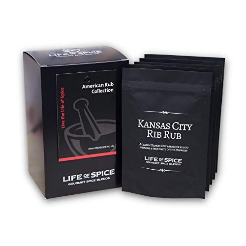 Life of Spice American Rub Collection - Confezione Regalo di 5 BBQ Rub Life of Spice (40 g/30 g l'uno)
