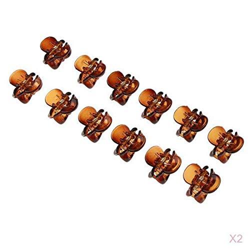 Hellery 24x Señoras Pequeñas Mini Pinzas Para El Cabello Pinzas De Horquilla Mandíbula Para Niñas Mujeres