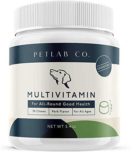 Petlab Co. Multivitamin-Kauknochen - Weiche Hundevitamin-Behandlungen und Ergänzungen für eine gesunde Haut und Fell des Hundes neben Muskel- und Gelenkunterstützung