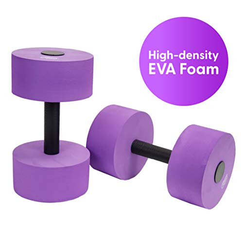 Buy Cheap Sunlite Sports High-Density EVA-Foam Dumbbell Set - Soft Padded - Water Aerobics, Aqua The...
